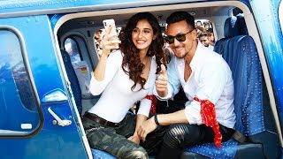 UNCUT : Tiger Shroff & Disha Patani Arrive In Helicopter At Mahalaxmi Racecourse