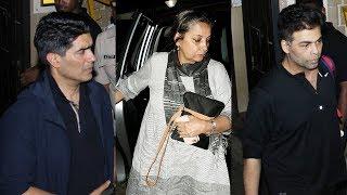 Karan Johar, Manish Malhotra, Shabana Azmi, Javed Akhtar Visit Anil Kapoor's House