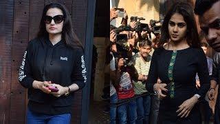 Genelia Deshmukh, Ameesha Patel, Amar Singh Visit Anil Kapoor's House For Condolence