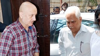 Ramesh Sippy, Anupam Kher Pay Visit To Anil Kapoor's House For Condolence