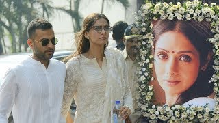 Sonam Kapoor Arrives At Celebration Sports Club With Anand Ahuja To Pay Last Respects To Sridevi