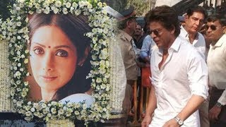 Watch : Shah Rukh Khan Arrives At Cremation Ground To Bid Farewell To Sridevi