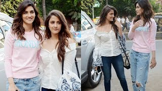 Kriti Sanon With Sister Nupur Sanon Spotted In The City For A Shoot