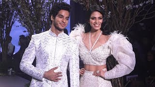 Ishaan Khatter & Malavika Mohanan Walks For Falguni & Shane Peacock At Bombay Times Fashion Week