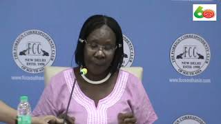 Ugandan High Commissioner to India Ms Grace Akello at the FCC on 30 10 18