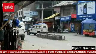 Clashes between police and students after police vehicles being hurled by stones