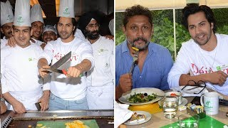 Varun Dhawan Promoting His Movie October In Chef Uniform | Bollywood Bubble