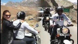 Salman Khan Rides Royal Enfield In Leh Ladakh | Race 3 Shooting