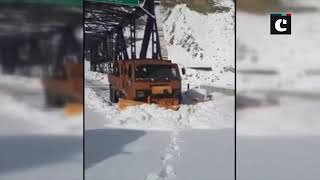 Snow clearing operations underway on Mughal Road