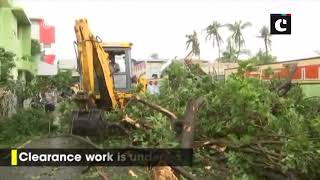 Cyclone Gaja: NDRF teams carry out clearance work in Nagapattinam