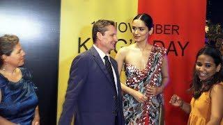 Consular General Peter Huyghebaert & Manushi At The Belgian King's Day Celebrations In Mumbai