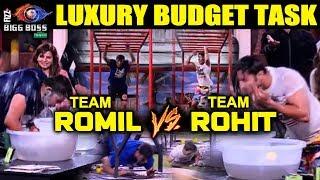 Team Romil Vs Team Rohit | Garnier Men Luxury Budget Task | Bigg Boss 12 Latest Update
