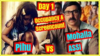Pihu Vs Mohalla Assi Audience Occupancy And Screen Count Day 1