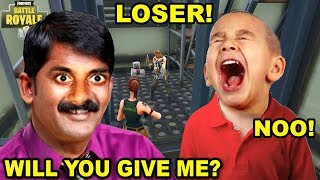 INDIAN TROLLING ANGRY NOOB IN FORTNITE (Funny Fortnite Trolling)