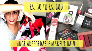 What's New in Affordable | Huge Affordable Makeup Haul under rs. 600 | Nidhi Katiyar