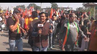उत्तराखंड के देहरादून में बीजेपी ने निकाली महा रैली    CM Trivendra Singh Rawat हुये शामिल   