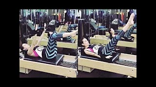Evelyn Sharma Fitness Workout Training Video | Bollywood Actress Workout in Gym