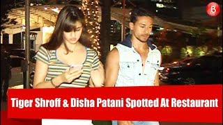 Tiger Shroff & Disha Patani Spotted At Restaurant