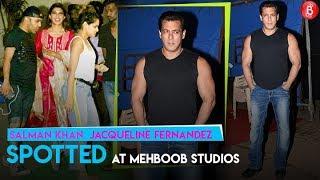 Salman Khan & Jacqueline Fernandez Spotted At Mehboob Studios | Race 3 Promotions | Salman Khan