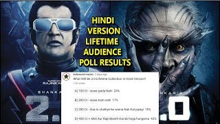 What Will Be 2.0 Lifetime Collection In Hindi Version I Audience Poll Results
