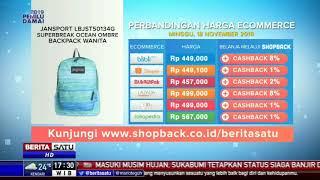 Perbandingan Harga e-Commerce: Jansport LBJST50134G Superbreak Ocean Ombre Backpack Wanita