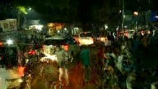 Shri Amit Shah's road show from Ekatma Parisar to Gas Pump Chowk in Raipur