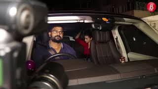 Sanjay Dutt, Ranbir Kapoor and Alia Bhatt spotted at Rishi Kapoor's house