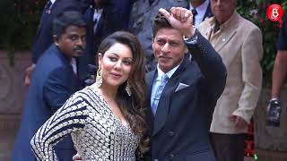 Shahrukh Khan & Gauri Khan Arrive At Akash Ambani & Shloka Mehta's Engagement
