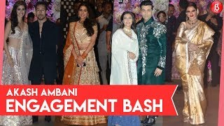 Bollywood Celebrities at Akash Ambani's and Shloka Mehta's Engagement Party