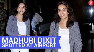 Madhuri Dixit Spotted At Mumbai Airport