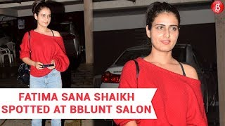 Fatima Sana Shaikh Spotted At BBLUNT Salon