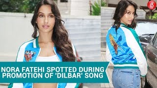Nora Fatehi Spotted During Promotion Of 'Dilbar' Song