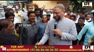 Asad owaisi   paidal Daura in Karwan Constituecy   DT NEWS