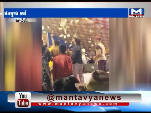 Amreli: Money showered in the Dayro of Geeta Rabari | Mantavya News