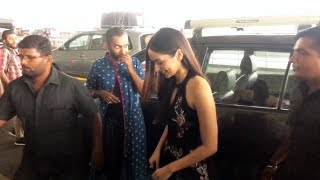 Miss World Manushi Chhillar Spotted At Airport