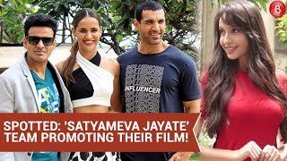John Abraham, Aisha Sharma, Manoj Bajpayee & Nora Fatehi Promote 'Satyameva Jayate'.