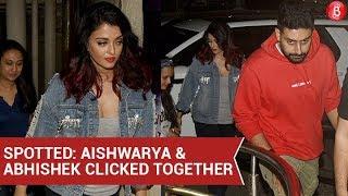 Aishwarya Rai Bachchan and Abhishek Bachchan spotted together | Bollywood