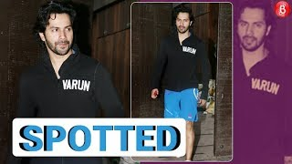 Oh So Cool Varun Dhawan Spotted Post His Gym!
