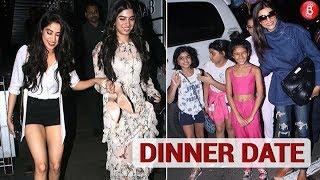 Sushmita Sen's Dinner Date With Her Daughter | Janhvi Kapoor & Khushi Kapoor's Dinner Date