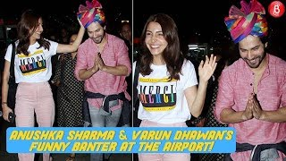 Anushka Sharma & Varun Dhawan Spotted At The Airport Post 'Sui Dhaaga' Promotions!