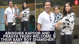 Abhishek Kapoor and Pragya Yadav take their newborn baby home