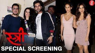 Bollywood Stars attend the special screening of Shraddha Kapoor and Rajkummar Rao's 'Stree'