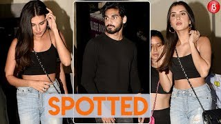 Tara Sutaria & Ahan Shetty Spotted On A Dinner Outing!