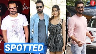 Spotted: Aamir Khan, Vicky Kaushal, Rhea Chakraborty & Varun Mitra Out & About!