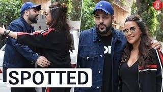 Neha Dhupia & Badshah Spotted Before The Shoot Of 'No Filter Neha'!