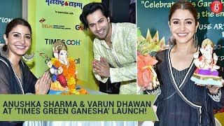 Anushka Sharma & Varun Dhawan Promote Eco Friendly Ganpati | Times Green Ganesha Launch