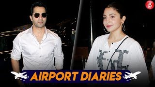 Anushka Sharma & Varun Dhawan Keep It Stylish As They Leave For Lucknow | Sui Dhaaga Promotions