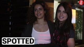 Sanya Malhotra & Radhika Madan spotted in Juhu