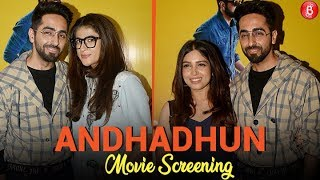 Bollywood Stars attend the special screening of 'AndhaDhun'