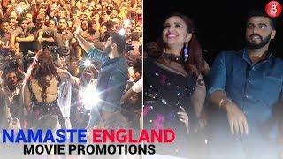 Arjun Kapoor and Parineeti Chopra promoting their film 'Namaste England' in Vadodara